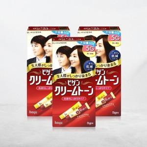 비겐크림톤 새치 염색약 대용량 60g /5G 진한밤색x3개