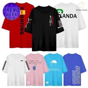 3+1 ~5XL 빅사이즈 반팔티 반바지 남자 여자 티셔츠