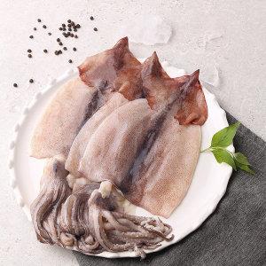 손질오징어 국산 해동 중 _4마리