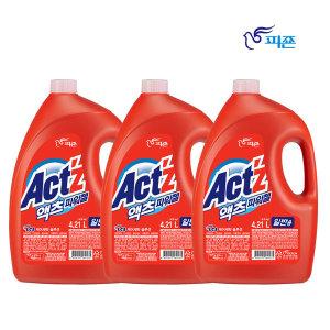 액츠파워젤 액체세제 세탁세제 일반용4.21L3개