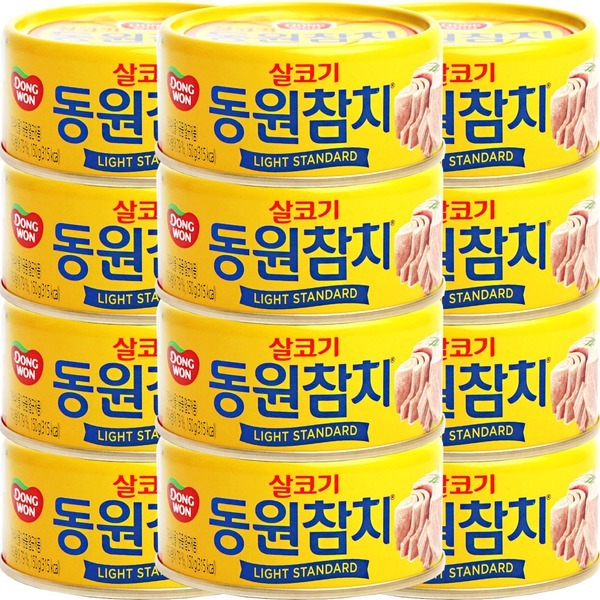 살코기 참치캔 150g 12개/사조 참치/고추/야채/마일드
