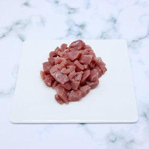 국내산 무항생제한돈 돼지고기 냉장 안심 카레용 300g