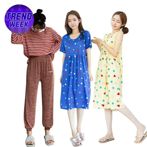 편안한잠옷1+1/예쁜잠옷/짱구/파자마/잠옷바지/원피스