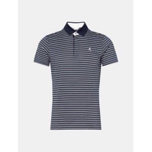 남성 네이비 멀티 스트라이프 칼라 티셔츠 (BJ0442B28R)
