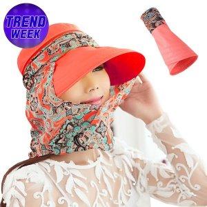 (인증) 스카프 자외선차단모자/여름/비치 햇빛가리개