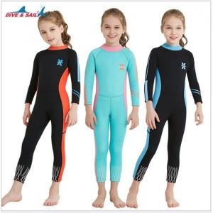 2.5MM 주니어 잠수복 자외선차단 수영복 서핑 아동