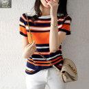 여성 여름신상 스트라이프 반팔 라운드 티셔츠  ZJ13
