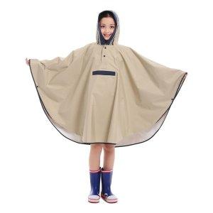 일본식 통기성 판초 어린이 비옷 학생 아이 부모-자식