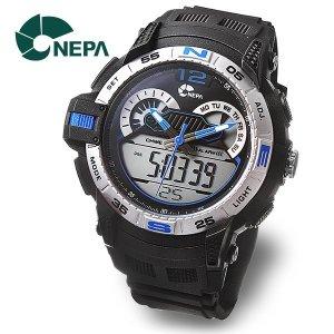 네파  NEPA 듀얼타임 전자 방수 남자 군인시계 N314-BLUE