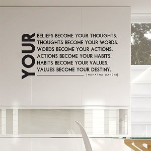 (화이트) YOUR...BECOME 레터링 스티커 벽장식스티커