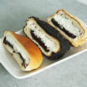 흑임자 생크림빵 3개 전주맛집 소부당/당일제조