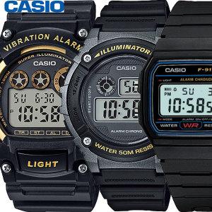 카시오 전자손목시계 남성여성 학생군인 W-800H-1A