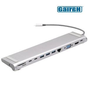 썬더볼트 USB C타입 노트북 12in1 멀티허브 맥북허브