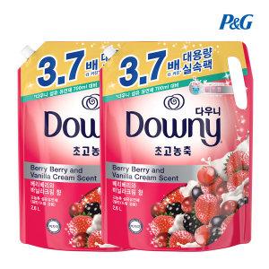 다우니 핑크 리필 2.6L 베리베리와 바닐라크림 향 2개