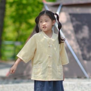 20339아동 브이넥 7부 저고리 개량한복 생활한복
