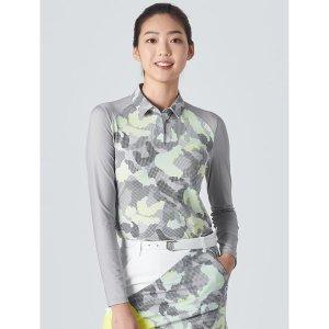 NDL라인  여성 라이트 그레이 카모 냉감 티셔츠 (BJ0Z41OL42)