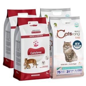 캣츠러브/NEW 캣츠랑 고양이사료 5kgX4개