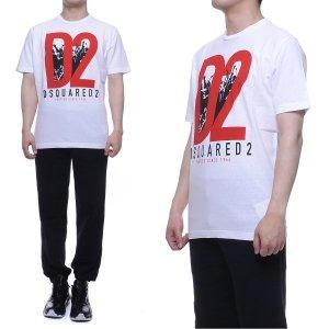한정수량 판매   유니코   디스퀘어드  남성 반팔 티셔츠 (S71GD0485_S22999_100)
