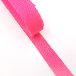 헤링본 면끈 10mm (형광핑크) 츄리링바지끈 -1마 90cm