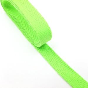 헤링본 면끈 10mm (형광그린) 츄리링바지끈 -1마 90cm