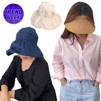 1+1 프라햇 썬캡 여름 모자 밀짚 버킷 햇 가방 라탄