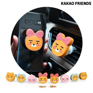 카카오프렌즈 차량용 송풍구 거치대+그립톡 슬림 SET (메탈플레이트 포함)