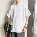 남자 반팔 티셔츠 라운드넥 캐주얼 루즈핏 무지 wo95
