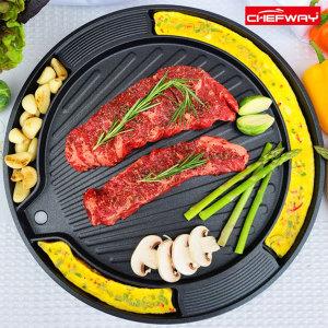 IH인덕션겸용계란찜 삼겹 고기 구이팬 가정용고기불판