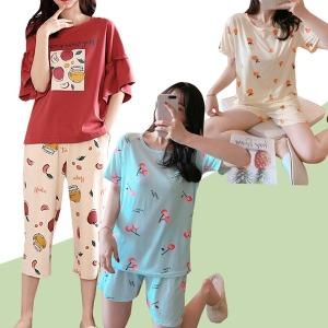 22%쿠폰 수맘 반팔 파자마 잠옷세트 홈웨어 원피스