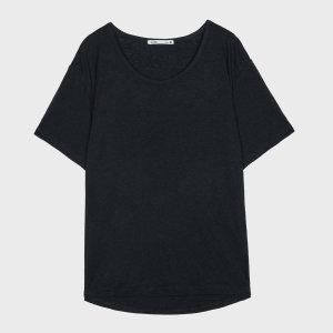 린넨혼방 R넥 썸머 티셔츠 MIWHWA501C