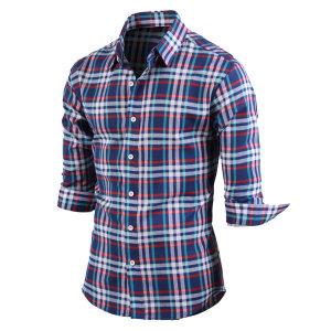 남성 7부셔츠 멀티체크 셔츠 남방 _sh2138