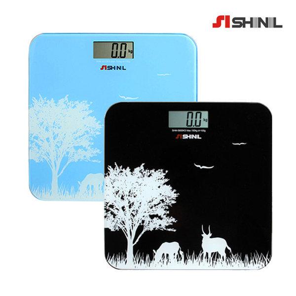 신일 슬림 디지털 체중계 강화유리 SHM-S600KS(블랙)