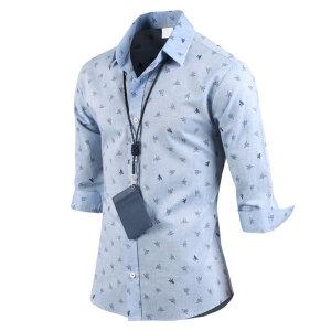 남성 7부셔츠 종이학 셔츠 남방 _sh2159