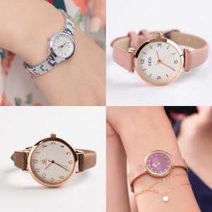 여자 여성 학생 손목 시계 메탈 추천 수능 패션 선물