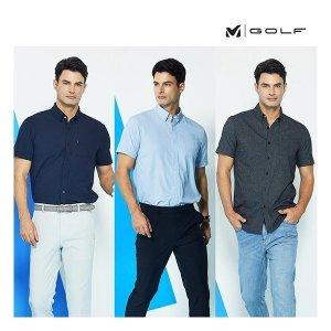 밀레골프  남성 퀵드라이 에어홀 셔츠 3종 세트