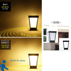 태양광 LED 카페문주 (감지형-데크)/밝기조절/데크등