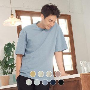 지오다노  020521 오버핏 크루넥 반팔 티셔츠 (솔리드)