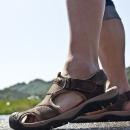 여름 남성 남자 샌들 아쿠아슈즈 신발 가죽 크록스