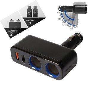 차량용 시가 USB 소켓(S32) 2구씩 퀄컴. 플러그 일체