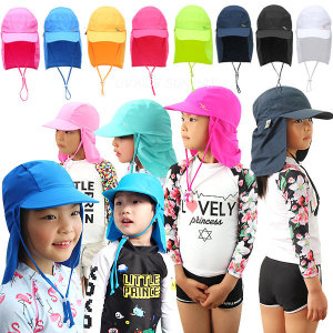 유아 아동 수영모자 플랩캡 썬캡 자외선차단 피부보호
