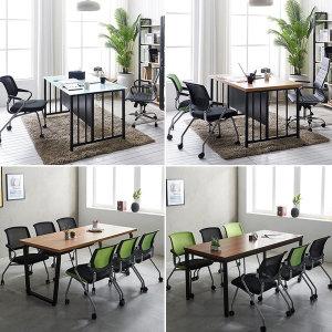 인테리어 테이블 사무실 회의용 4인 6인용 미팅테이블
