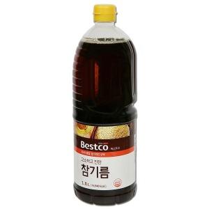 대상 베스트코 참기름1.8L(100%참깨)