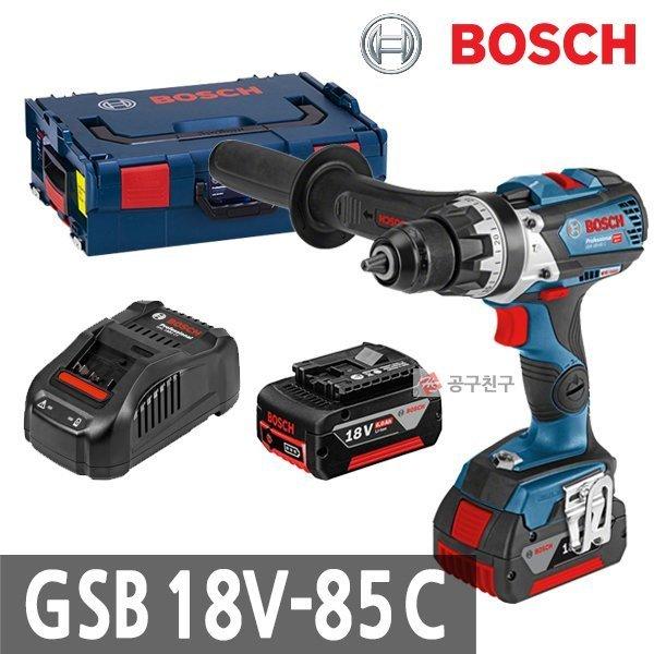 공구친구 보쉬 GSB18V-85C 충전햄머드릴 18V 6.0Ah 블루투스 함마 커넥티비티
