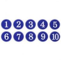 파란색 에폭시 헬스장 옷장 사물함 번호판 숫자1-10