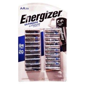 에너자이저 얼티메이트 리튬 건전지 AA 20입