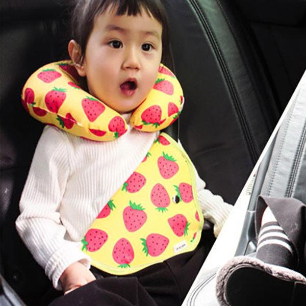 어린이 안전벨트 가드 커버 유아 목베개 쿠션