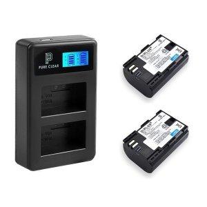 캐논 LP-E6(N) 2구 LCD 호환충전기1+호환배터리2 세트