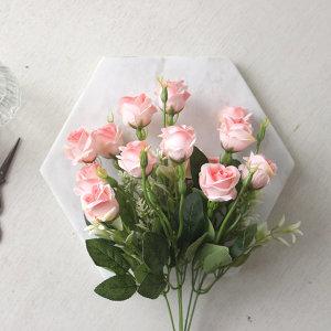 잉글랜드 장미 부쉬 조화(6color)