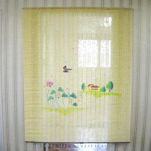 튤립 수동 문발 90x170cm /햇빛가리개 현관문발 커튼