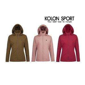 코오롱스포츠  여성 솔리드 방풍 자켓 (JKJJA19212CBR GPI PRX)